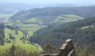 Blick aufs Werratal von Burg Hanstein