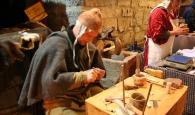 Händler auf dem Weihnachtsmarkt