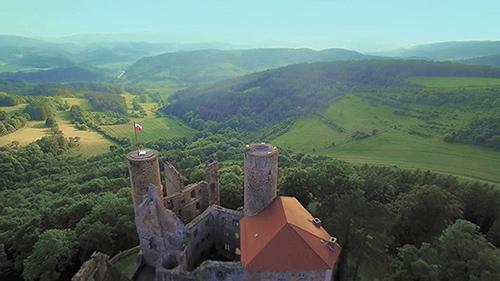 Burg Hanstein in der Vogelperspektive